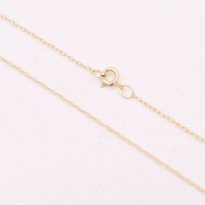10k 0.6mm Twisted rope Yellow Gold chain